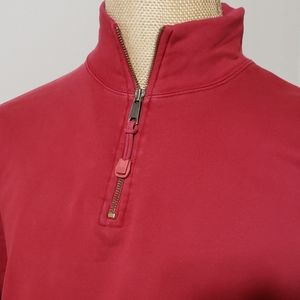 Ralph Lauren dark red burgandy pull over 1/4 zip